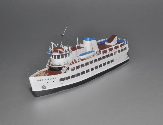 "The Port Welcome in Z scale, all of 7"" long but as detailed as any larger ship."
