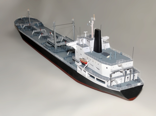 "Port Stern View. The model is over 45"" long."